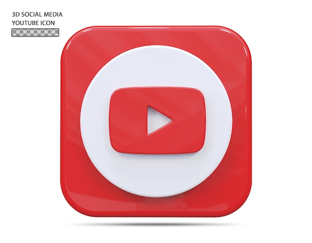 Icona youtube 3d rendering concept