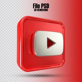 Icona youtube rendering 3d