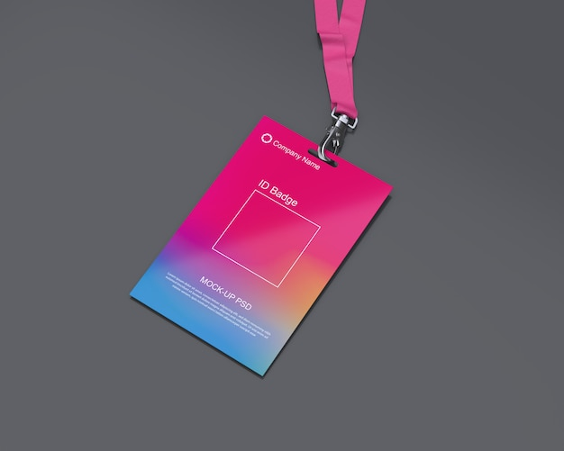 Mockup badge identificativo