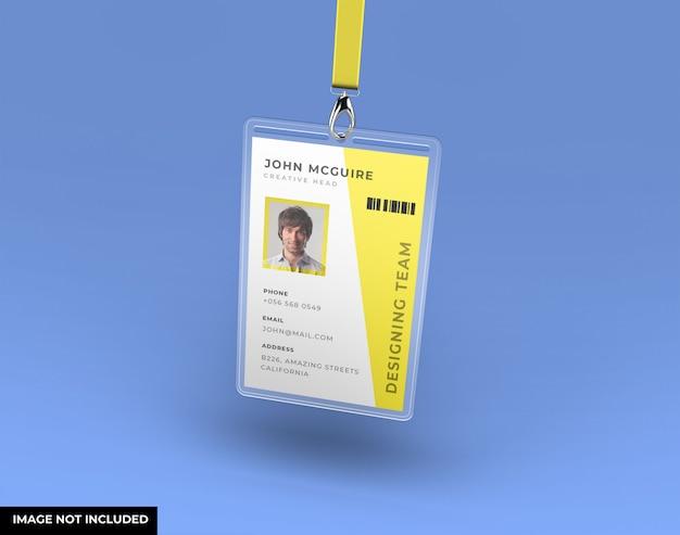 Mockup di biglietto da visita di identità