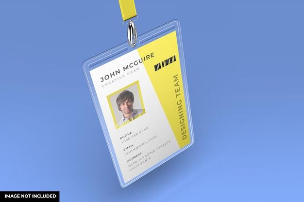 Mockup carta d'identità