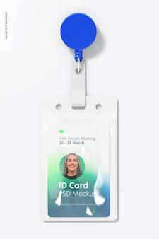 Bobina di carta d'identità con mockup di clip da cintura