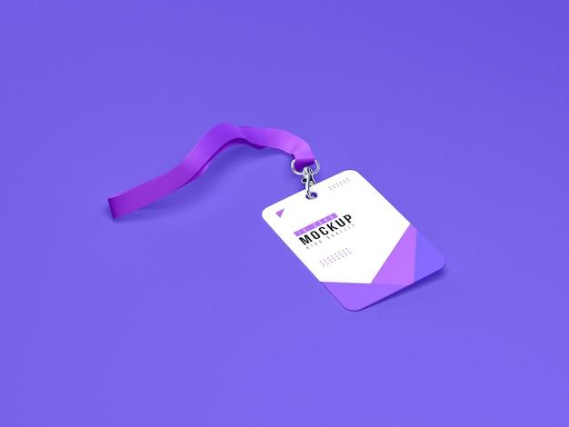 Mockup di porta carte d'identità