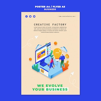 Modello di stampa aziendale illustrato
