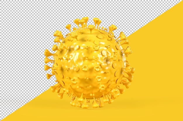 Illustrazione di una molecola di coronavirus isolata