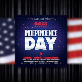 Volantino per il giorno dell'indipendenza