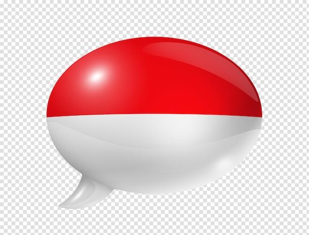 Nuvoletta bandiera indonesiana