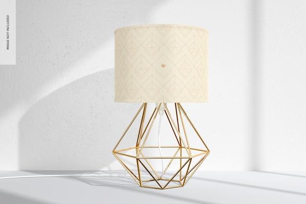 Mockup di lampada da tavolo industriale in ferro, prospettiva