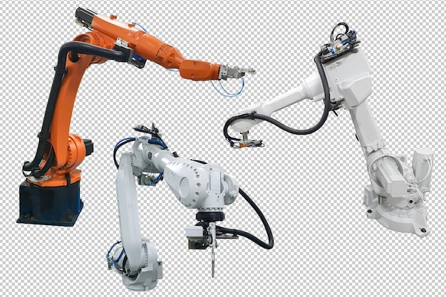 Tecnologia del braccio robotico industriale psd