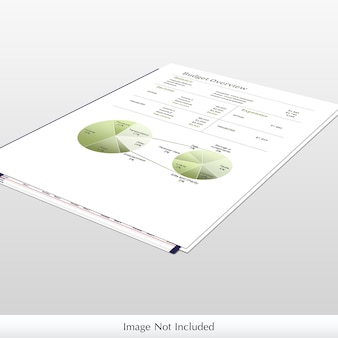 Mockup di carta infografica Psd Premium