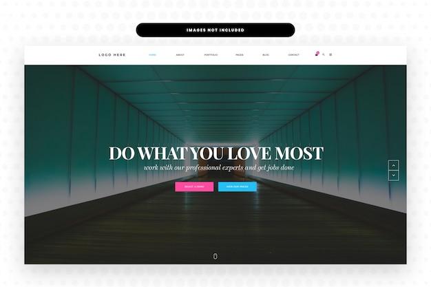 Pagina di destinazione del sito web per la progettazione di prodotti innovativi