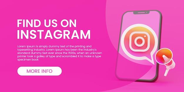 Modello di banner instagram
