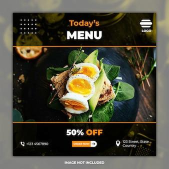 Banner culinario feed di instagram
