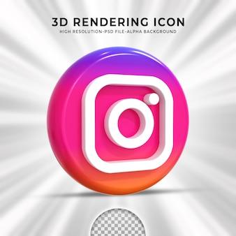 Logo lucido di instagram e icone dei social media