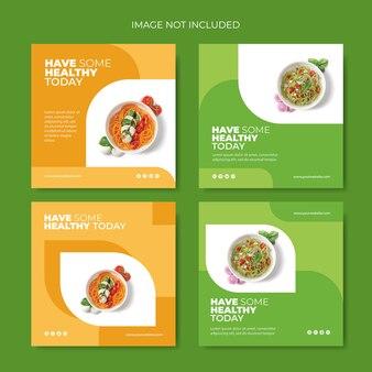 Raccolta di post su instagram per healthy food