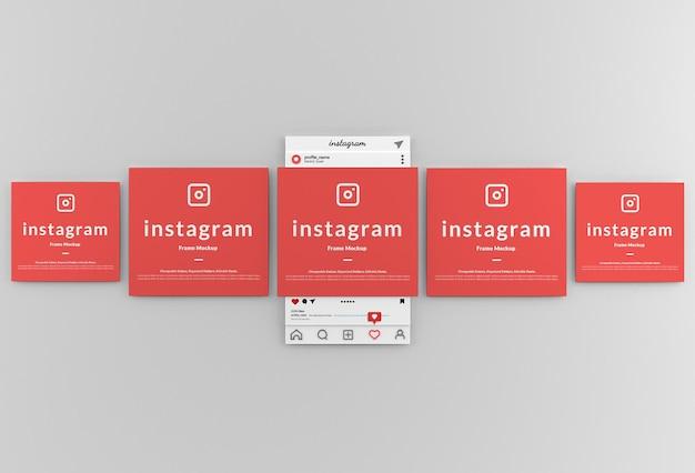 Mockup dell'interfaccia del frame di instagram