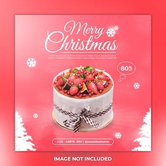 Post di instagram menu e torta di buon natale
