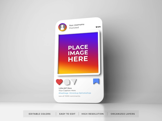 Instagram post social media mockup