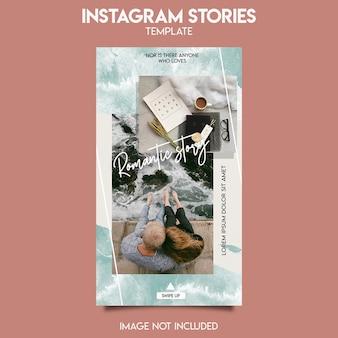 Modello di post di instagram per la storia d'amore