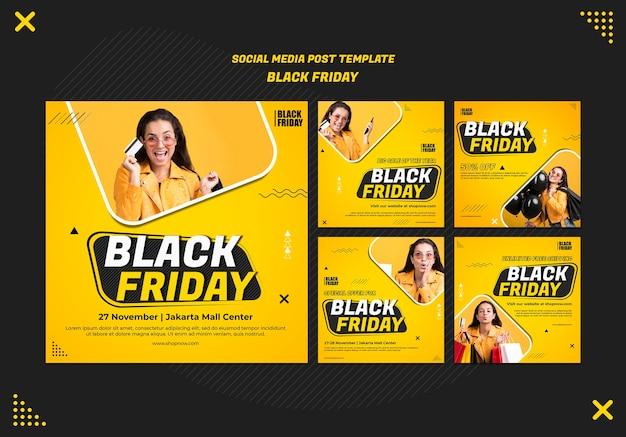 Raccolta di post su instagram per l'autorizzazione del black friday