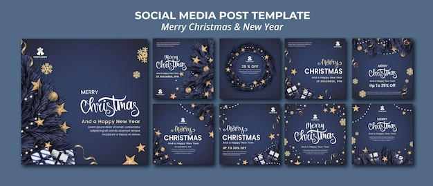Raccolta di post di instagram per natale e capodanno