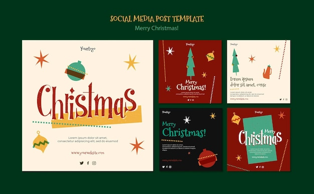 Raccolta di post di instagram per natale