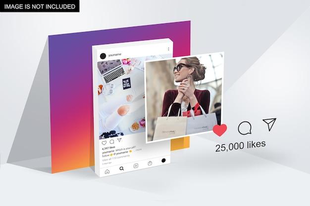 Design di mockup di presentazione di instagram