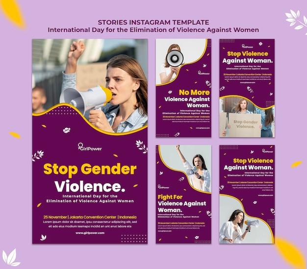 Raccolta di storie su instagram per l'eliminazione della violenza contro le donne