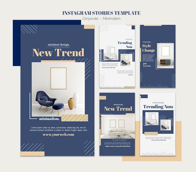Raccolta di storie di instagram per l'interior design