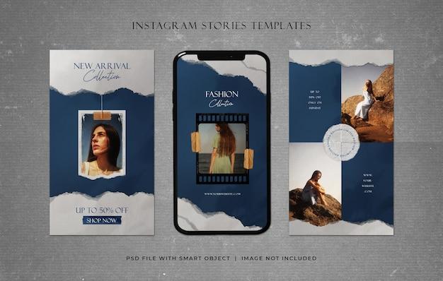 Storie di instagram modelli promozionali di vendita di moda