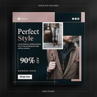Modello di banner web di moda post storia di instagram