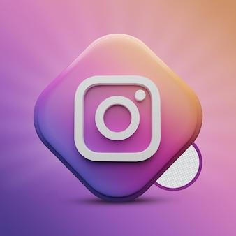 Instagram tri rettangolo 3d render icon