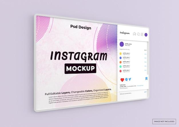 Mockup web instagram isolato