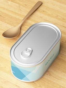 Mockup di imballaggi per alimenti in scatola istantanea