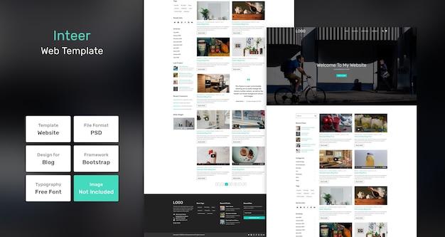 Modello web per blog inteer