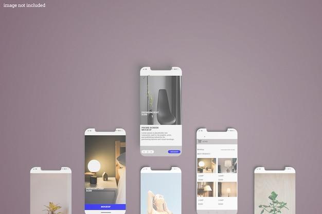 Modello di interfaccia sul display del telefono