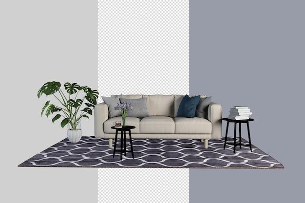 La decorazione d'interni ha impostato il percorso di ritaglio di rendering isolato