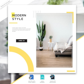 Design post per social media template premium psd