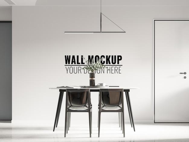 Interno sala da pranzo parete mockup rendering 3d