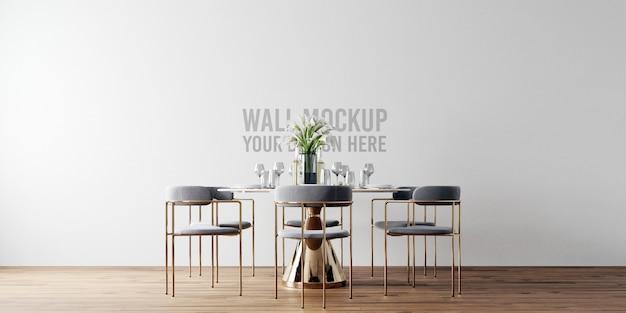 Mockup di parete sala da pranzo interna
