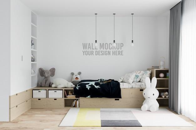 Mockup di pareti per bambini interni