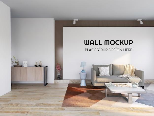 Mockup di parete realistica per soggiorno interno
