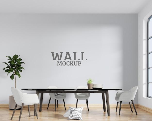 Spazio interno con mockup di parete in stile moderno