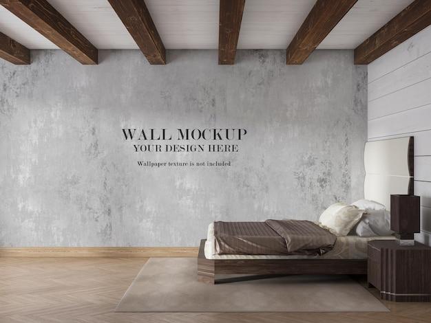 Mockup di parete interna in rendering 3d
