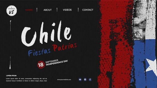 Pagina di destinazione della giornata internazionale del cile