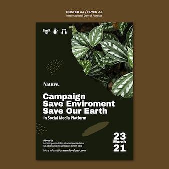 Poster della giornata internazionale delle foreste