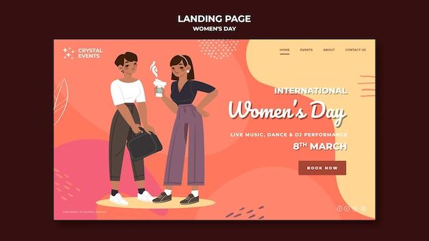 Pagina di destinazione della giornata internazionale della donna