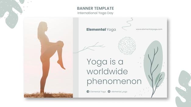 Banner di giornata internazionale di yoga