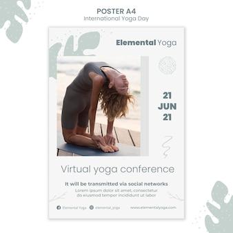 Poster della giornata internazionale dello yoga