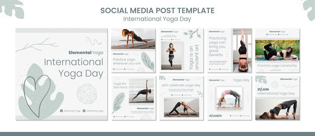 Post sui social media per la giornata internazionale dello yoga